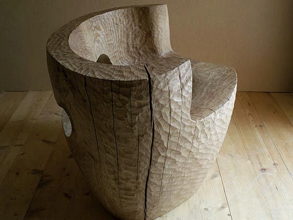 Russian Woodworker Carves Chunky Furniture From the Solid Trunks ...