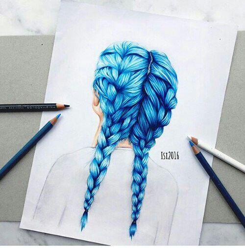 Kunst Des Haarstylings Haarstylings Kunst New Haare Zeichnen Frisuren Zeichnen Farbstift Kunst