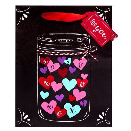 Jar Of Hearts Cub Size Valentine Gift Bag