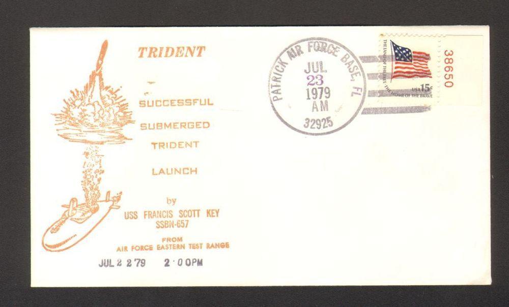Postmarked Envelope Submerged Trident Launch USS Francis Scott Key July 1979