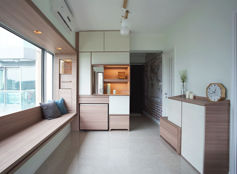 Sim Plex Maximizes Limited Space Of Apartment In Hong Kong With Adjustable  Furniture