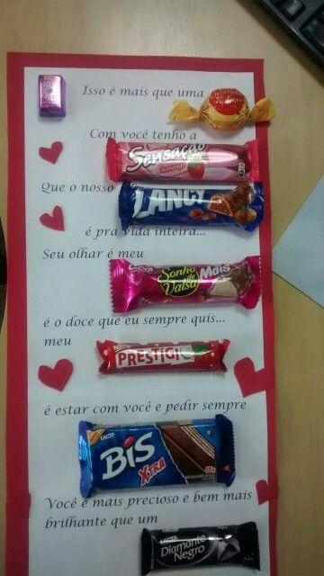 Carta Chocolate 1 Com Imagens Surpresas Dia Dos Namorados