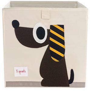 brown dog storage box - genius jones