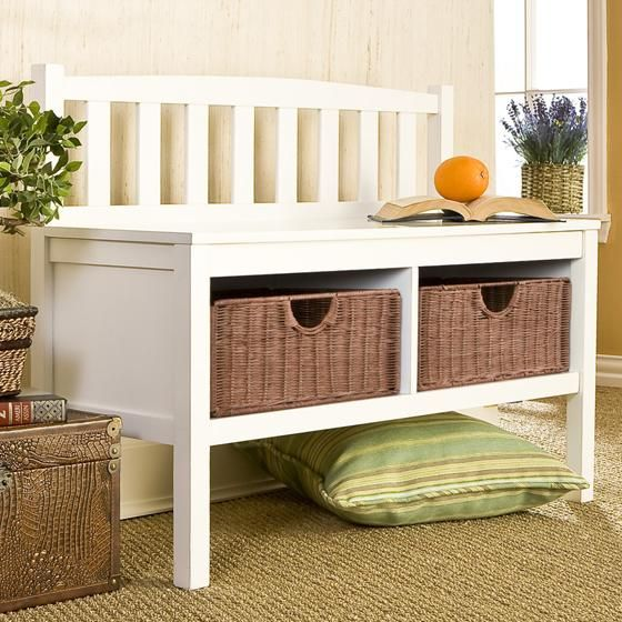 Entry Bench Baskets For Gloves Hats Amp Scarves And