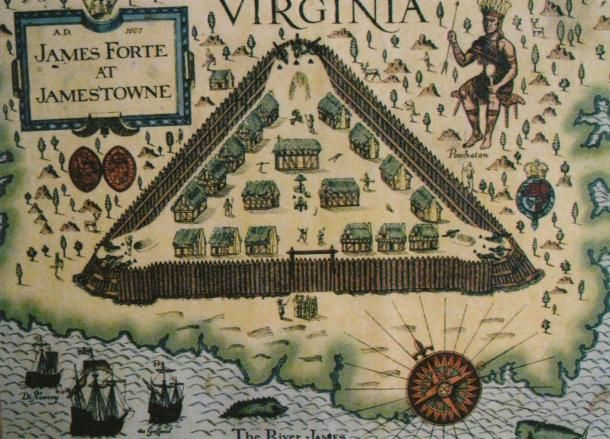 Map Of Jamestown Archaeologists Identify Remains of the Early Colonists of