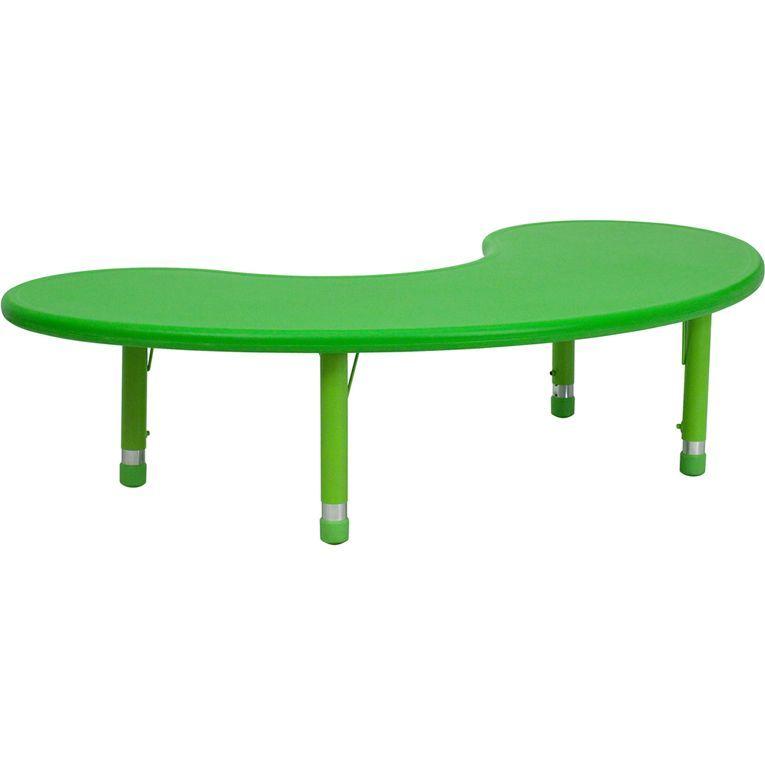 Flash Furniture 14.5 23.75 Inch Height Adjustable Plastic Preschool Table