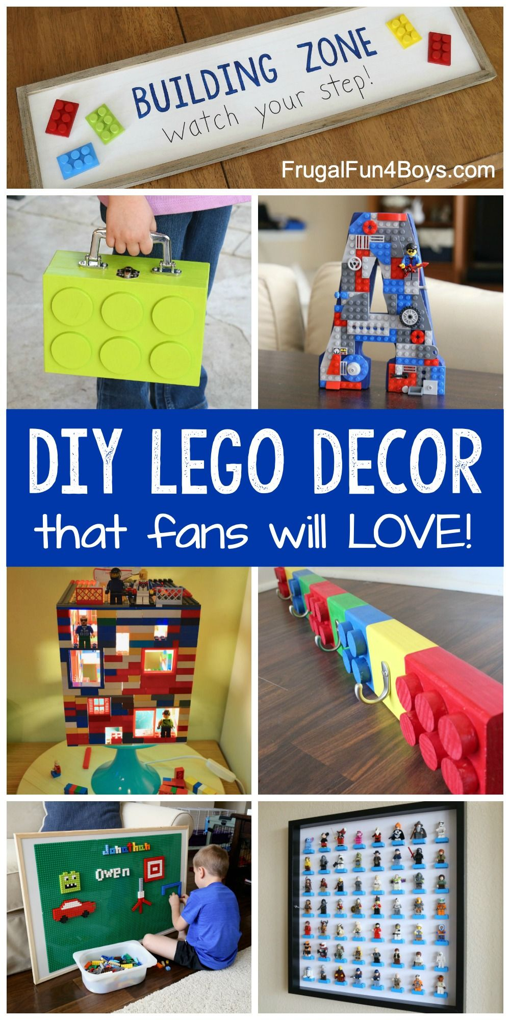 Awesome Diy Lego Crafts And Room Decor Projects Frugal Fun For Boys And Girls Lego Room Decor Lego Room Lego Bedroom Decor