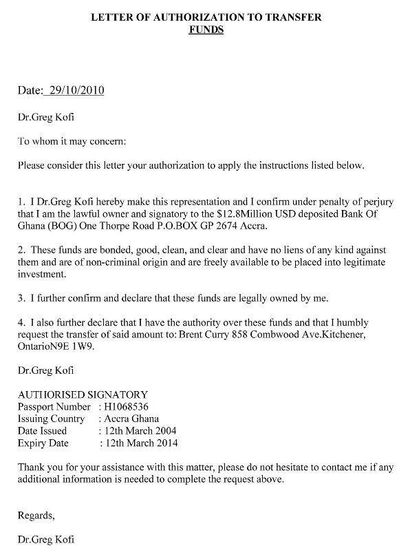 Tender Authorization Letter Authorization Letter to Purchase – Sample Letter of Authorization Form