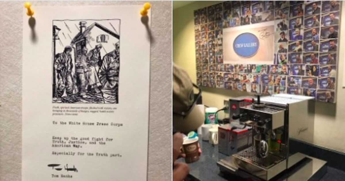 Tom Hanks Sent The White House Press Corps An Espresso Machine (And A Note)