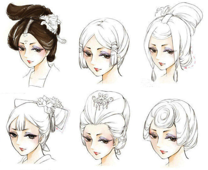 chinese ancient hair style