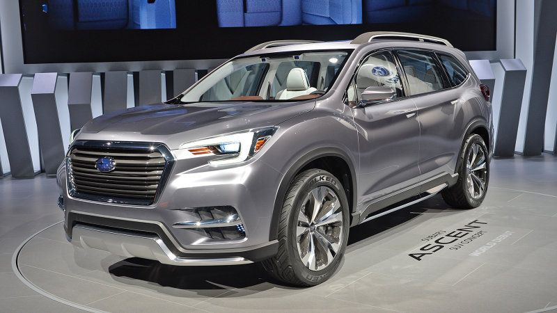 Subaru Ascent Three Row Suv Set For 2018 Launch Subaru Suv Best