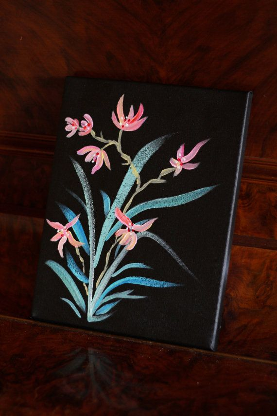 Flower Painting Acrylic On Canvas Japanese Style Flower Painting