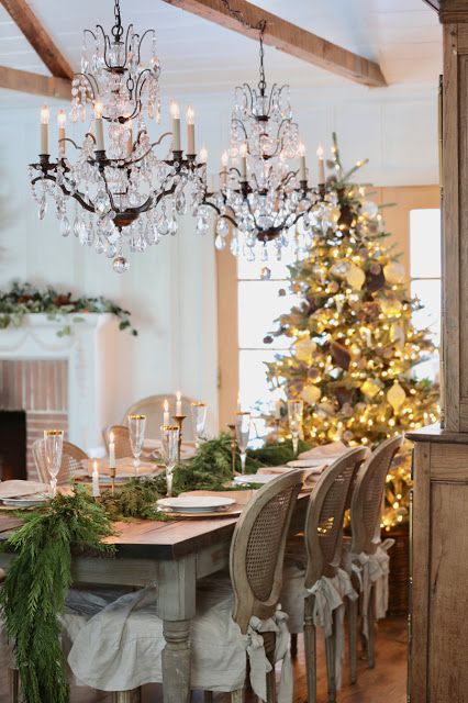 Photo of French Christmas Dining Room