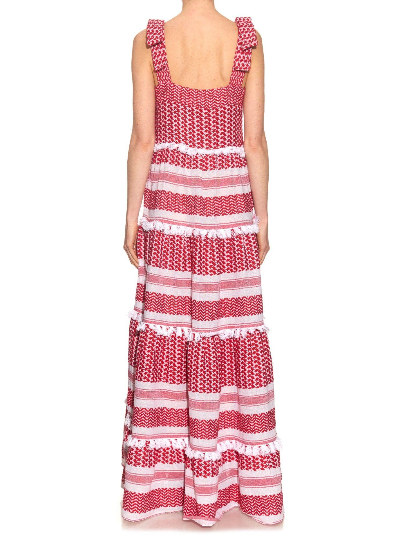 Amal tiered cotton maxi dress dodo bar or matchesfashioncom