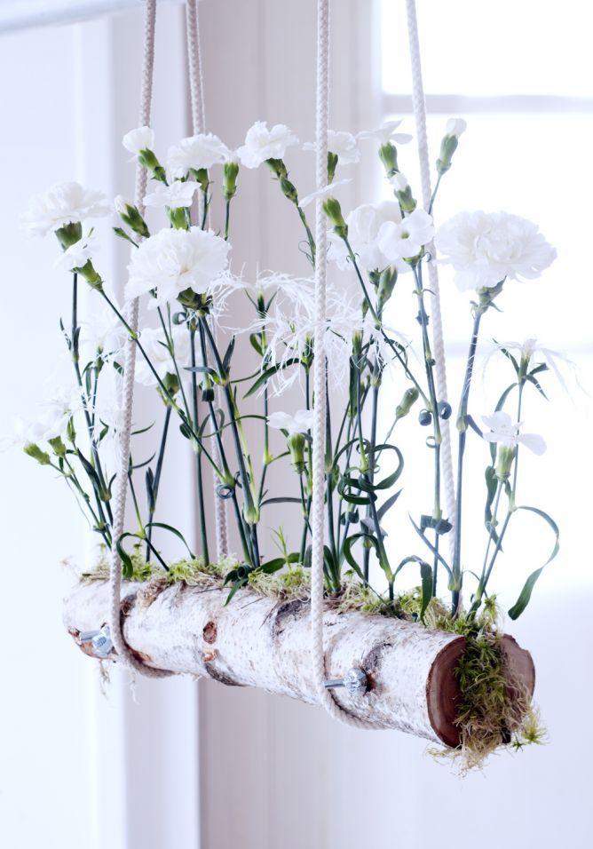 cómo hacer una maceta colgante para claveles | clavel, colgantes y