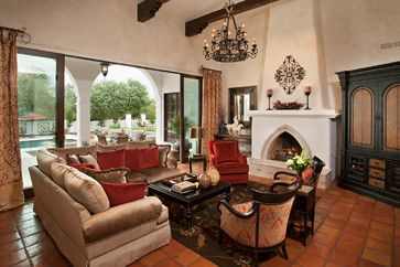 Spanish Colonial Remodel   Mediterranean   Living Room   Phoenix   Matthew  Thomas Architecture, LLC