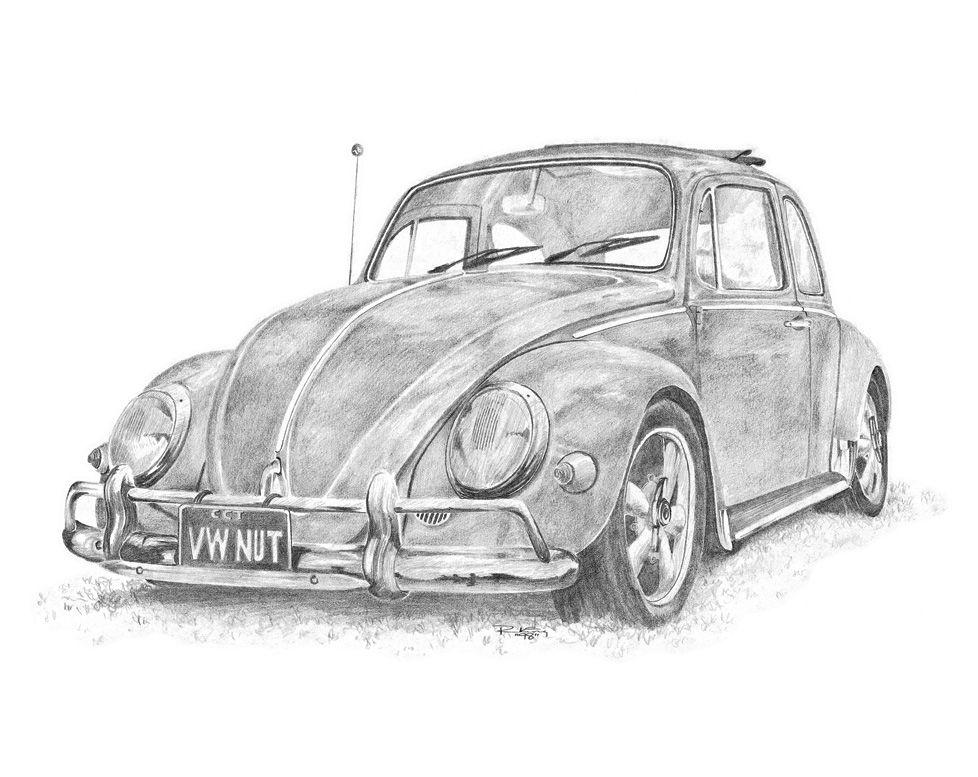 Classic VW pencil drawings | Art | Pinterest | Vw, Drawings and Beetles