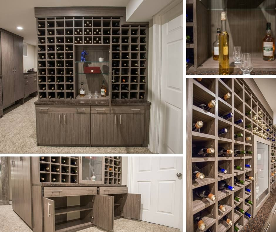 Good A Clean Nutmeg Melamine Wine Storage Unit With Spacious Lower Cabinets And  Horizontal Drawers. Learn