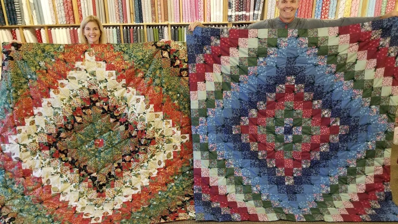 How To Make A Trip Around The World Quilt The Easy Way Youtube Quilt Patterns Quilting Tutorials Quilts