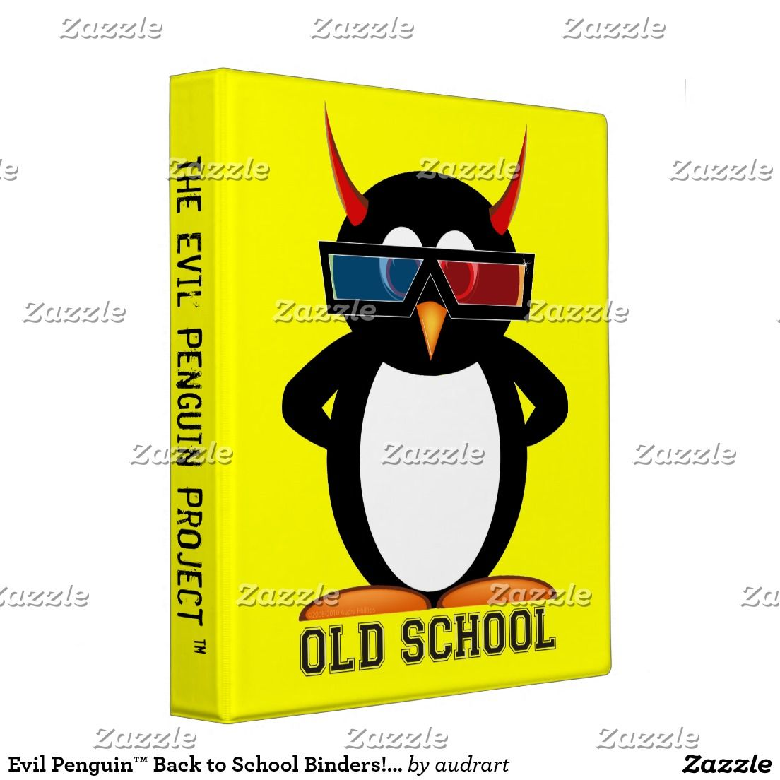 "Evil Penguin™ Back To School Binders! 1"" Size 3 Ring"