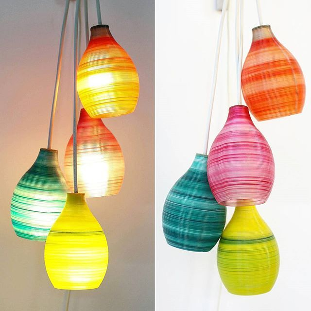 Colorful 3dprinted Cluster Lampshades @fleximatter_3d. | Fleximatter  Products. | Pinterest | Lampshades