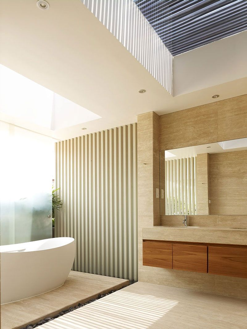 Interior design of bathroom  west coast grove by onguong  west coast white shutters and