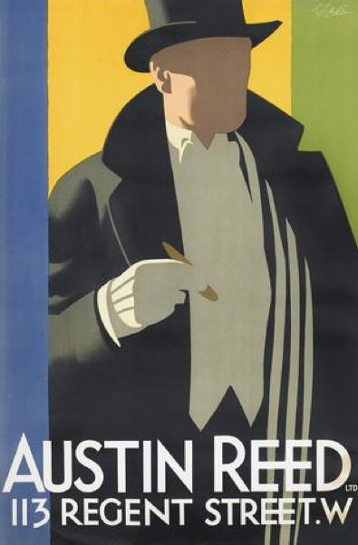 By Tom Purvis 1888 1959 Ca 1926 Austin Reed S Of Regent Street British Art Deco Posters Art Deco Posters Prints Fashion Poster Design