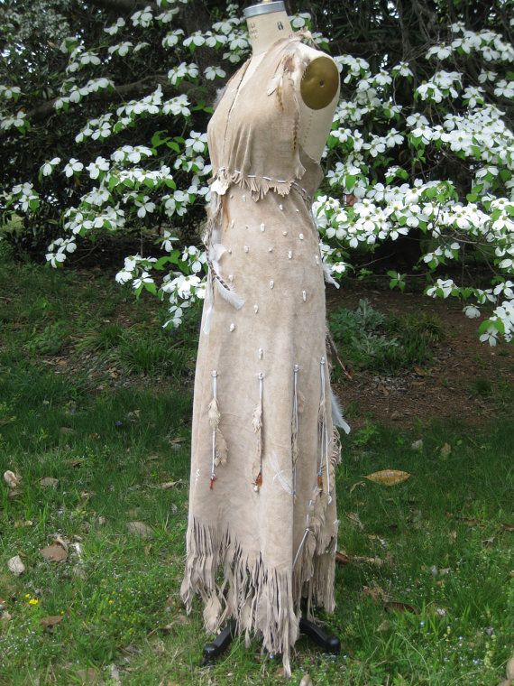 Reserved For Hazma Leather Wedding Dress Native American Inspired
