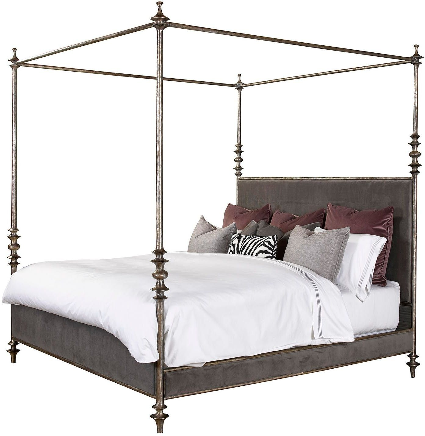 Henredon Furniture 1945 Collection Lafayette Metal Canopy Bed