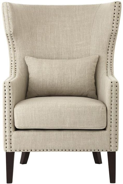 Home Decorators Collection Bentley Birch Neutral Linen Upholstered Arm Chair 9434700230    The Home Depot