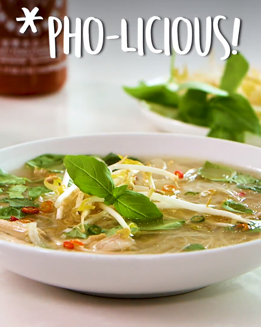 For pho, it's legitimately all about the intensely delicious broth. And thanks to the flavor-concentrating power of the pressure cooker, we were able to make a robust and dynamic chicken broth in a matter of minutes.