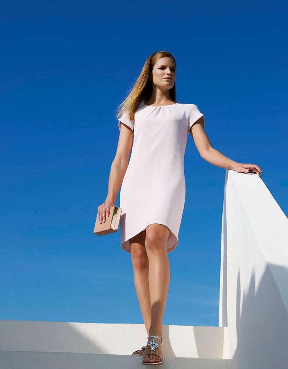 robe droite rose poudr christine laure tenue mariage pinterest robe droite laure et. Black Bedroom Furniture Sets. Home Design Ideas