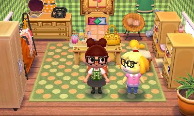 """animal crossing: happy home designer- isabelle- """"home, sweet home"""