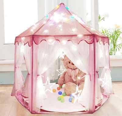 Girls Pink Princess Castle Cute Playhouse Play Tent Children Kids Outdoor Toys  sc 1 st  Pinterest & Girls Pink Princess Castle Cute Playhouse Play Tent Children Kids ...