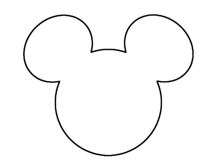 large mickey mouse head template - an anthropomorphic mouse who typically wears red shorts