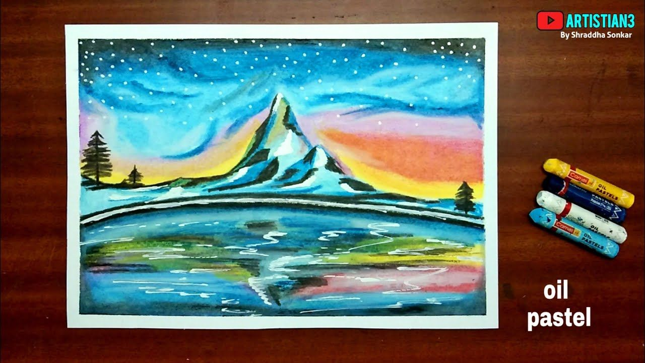 Easy Oil Pastel Drawing How To Draw Mountain Landscape Easy Drawing Subscribe Like Comment In 2020 Easy Nature Drawings Oil Pastel Oil Pastel Drawings