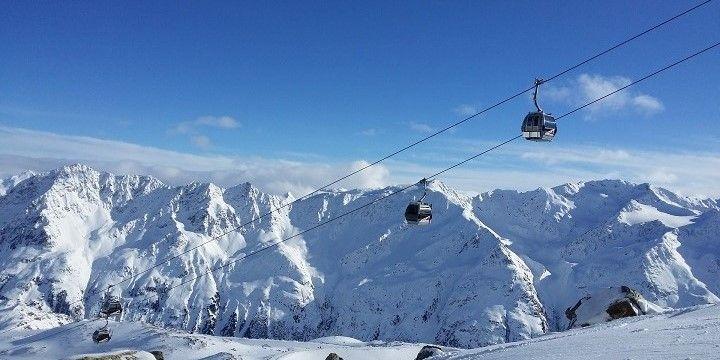 Ski resort, Austria, Europe