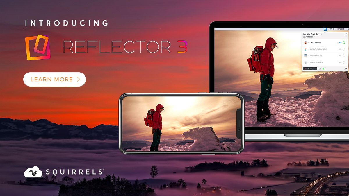 Reflector 3 can record any mirrored device screen  Include
