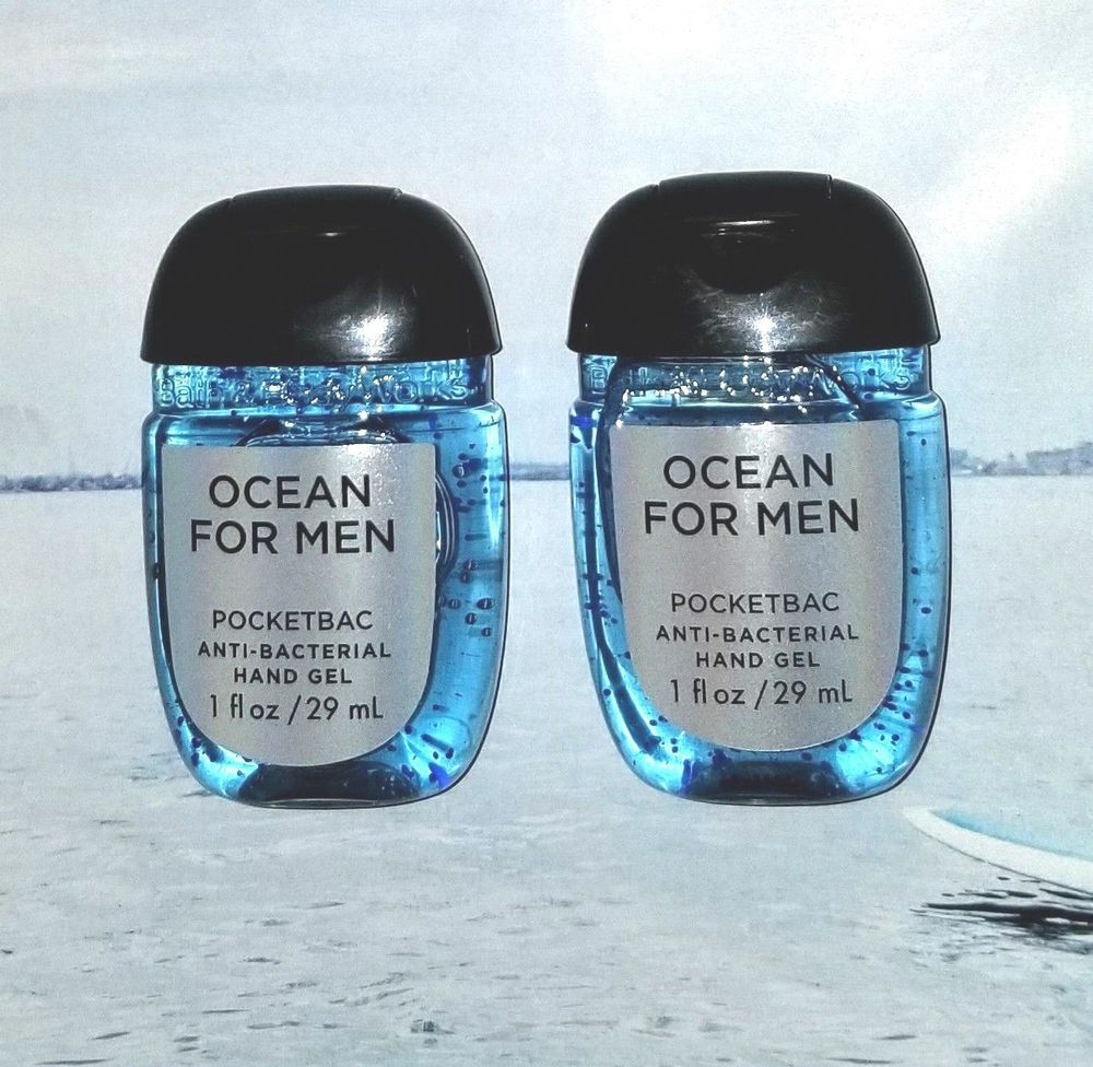 Bath Body Works Pocketbac Hand Sanitizer Gel Ocean For Men Set