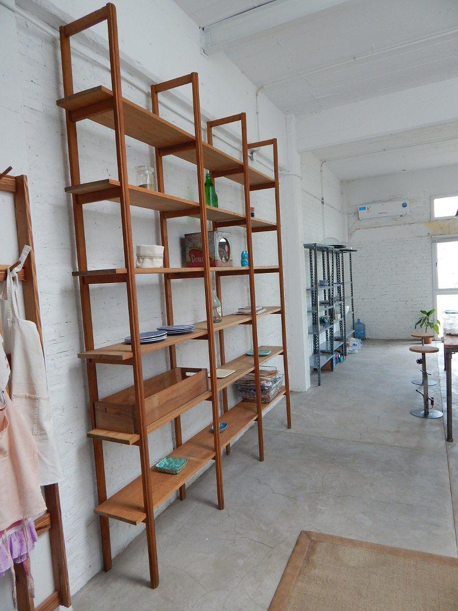 estanteria biblioteca madera antigua pino brasil | Shelves, cabinet ...