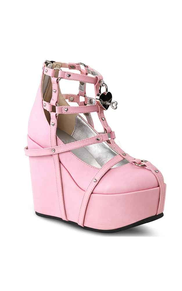 45fa60882553 Demonia Pink Cage Strap Platform Shoes - Only UK 7 Left in 2019 ...