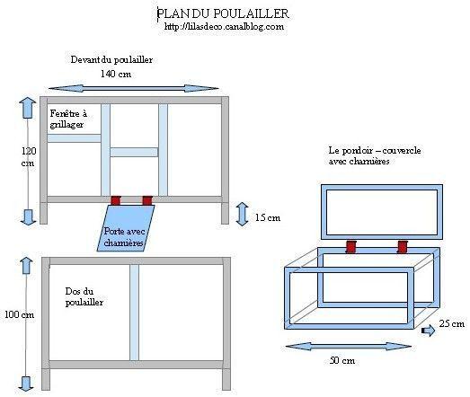Plan Poulailler Avec Mesures En 2020 Plan Poulailler Poulailler Construction D Un Poulailler