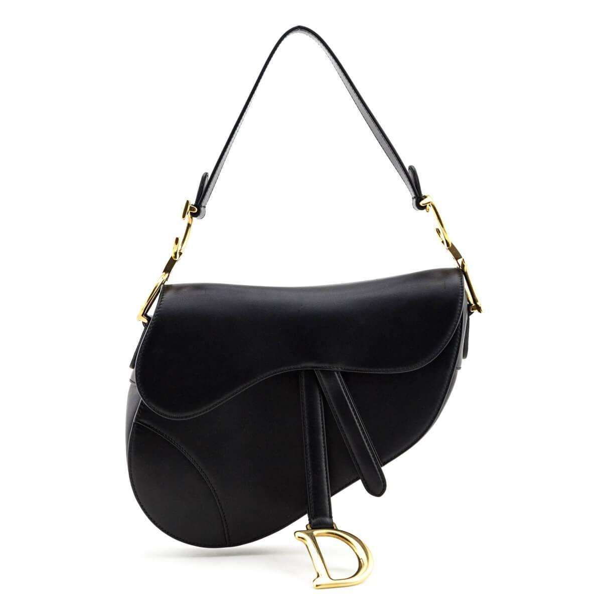 Dior Black Calfskin Saddle Bag Shop Preloved Dior Saddle Bags