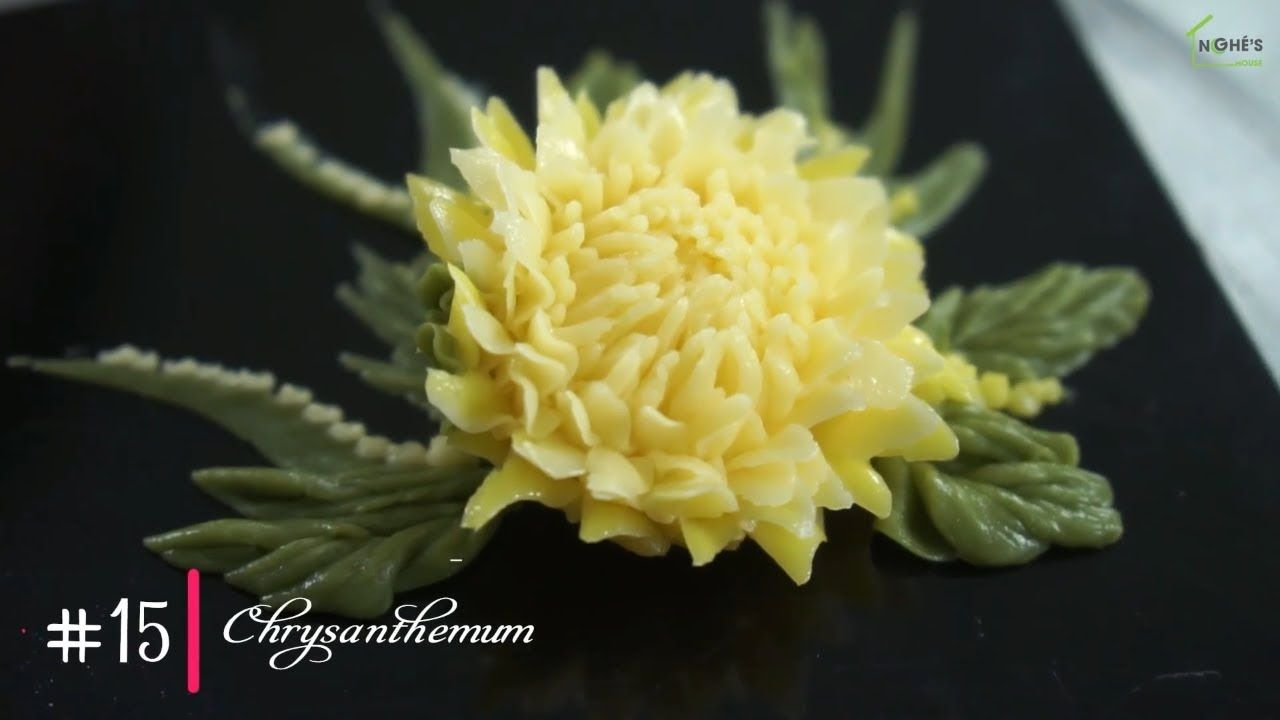 15 Chrysanthemun How To Buttercream Flowers With Menghehomemade Buttercream Flowers Tutorial Buttercream Flowers Cake Decorating Techniques