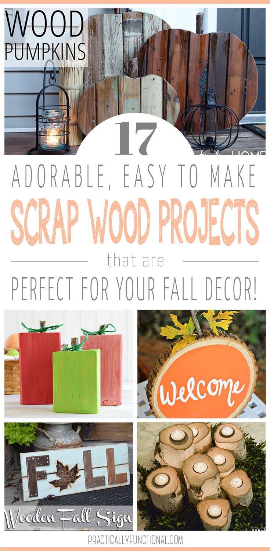 17 Simple Fall Wood Crafts   Pinterest   Fall wood crafts, Fall ...