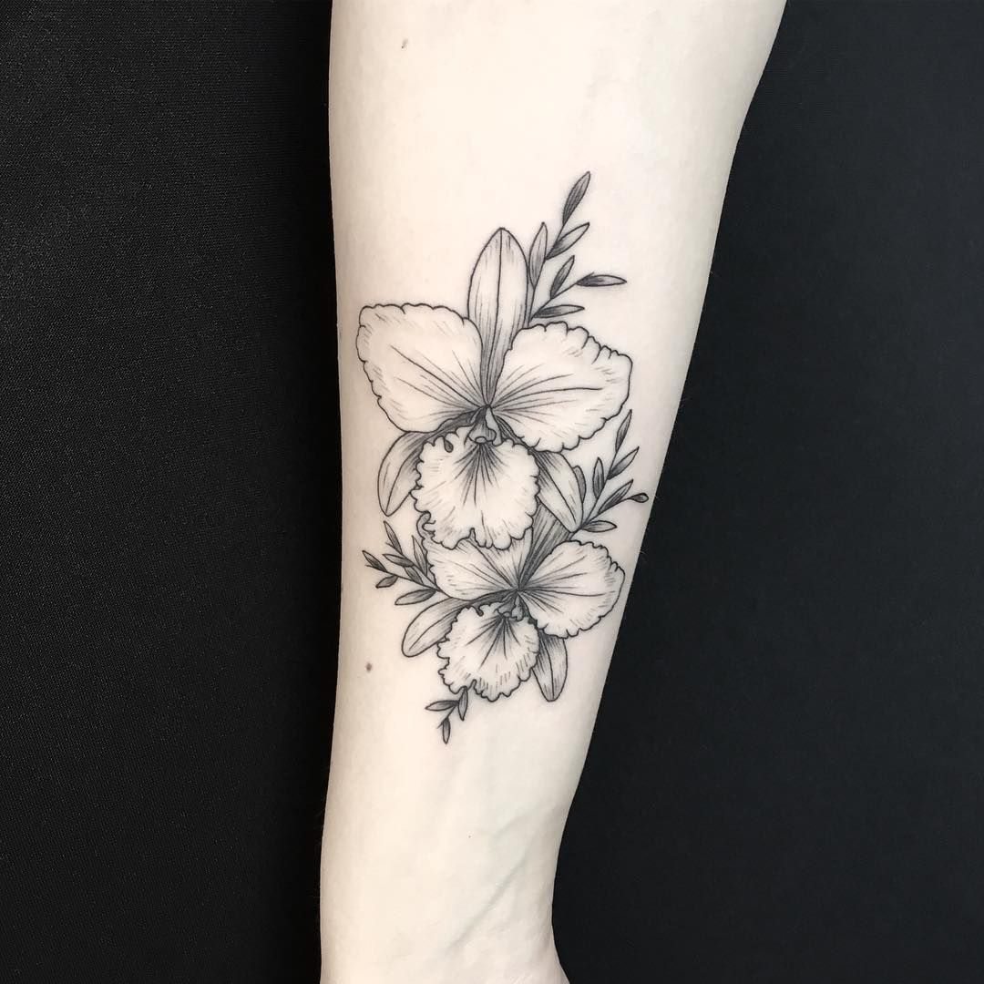 Mary Tereshchenko En Instagram Cattleya Tattoos Instagram Posts Flower Tattoo