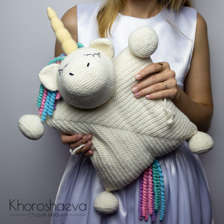 Crochet Pillow Toy Sleeping Unicorn Crocheted Decor Pillow Crochet Baby Pillow Crochet Gif Stuffed Toys Patterns Unicorn Toys Animal Pillows [ 3000 x 3000 Pixel ]