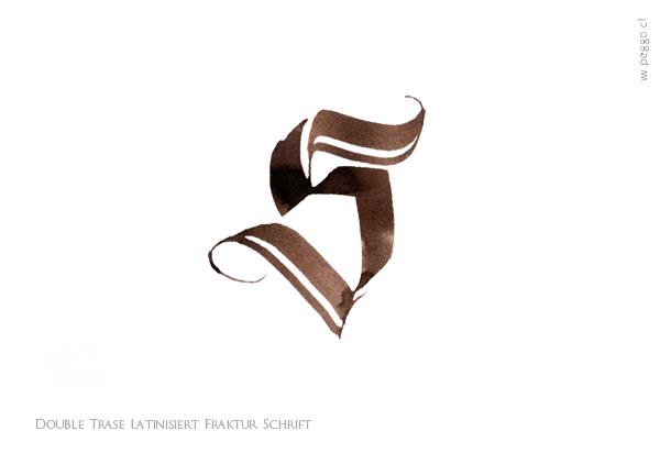 """""""S"""" Double Trase Latinsiert Fraktur Schrift - by peggo on Behance"""