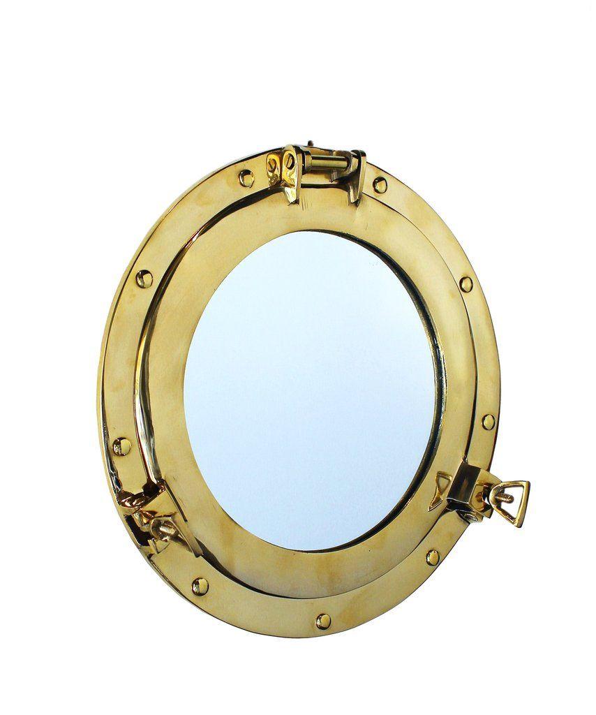 Brass Porthole Mirror | Beach House | Pinterest | Porthole mirror ...