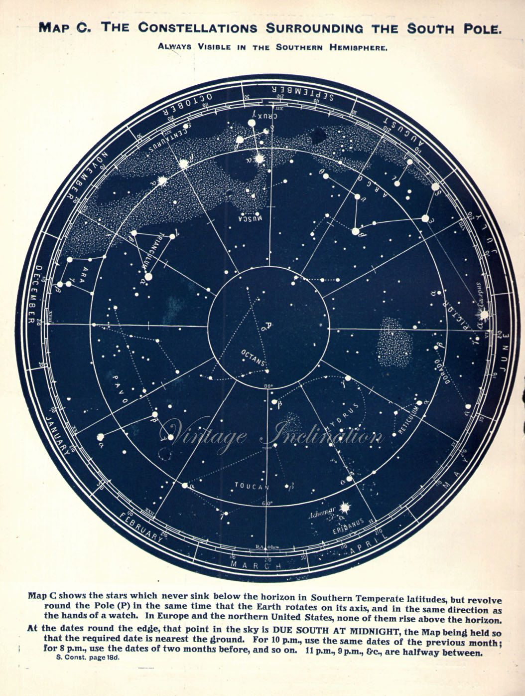 Vintage 1926 South Pole Stars Antique Star By Vintageinclination
